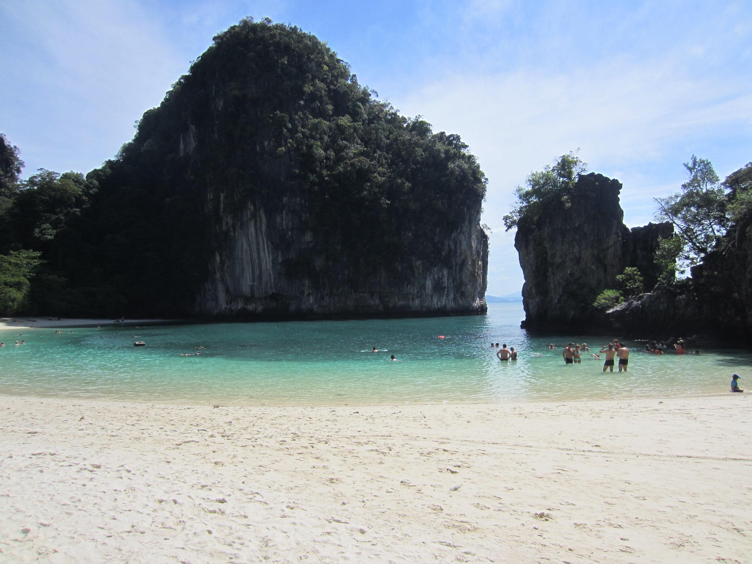 "The beach at ""James Bond Island"" near Krabi"
