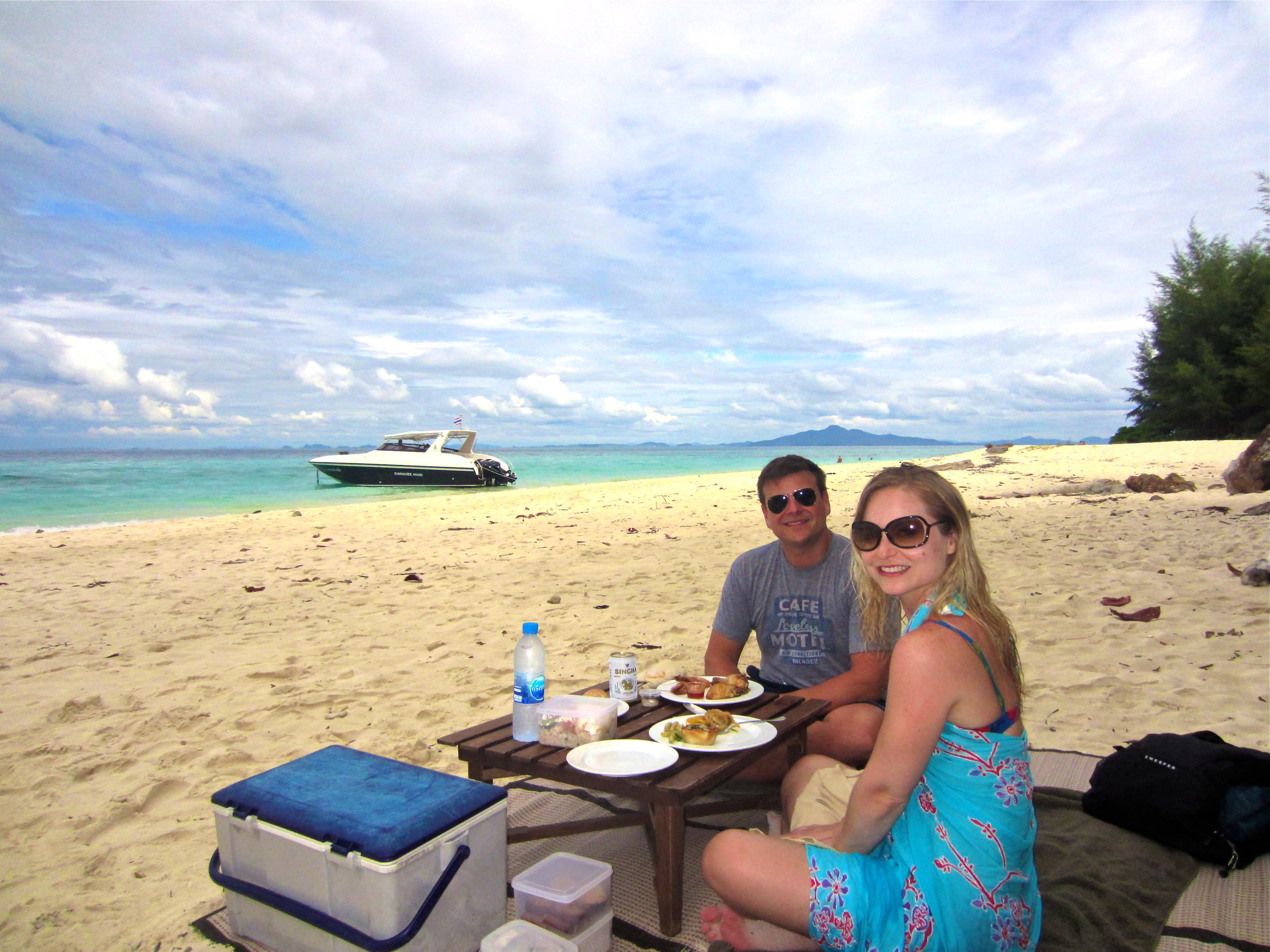 Not a tourist in sight during our private picnic somewhere off of Krabi, Thailand. #Spoiled