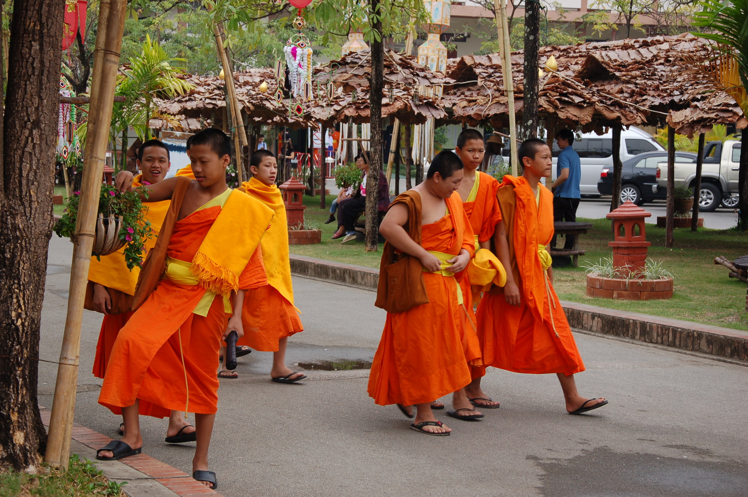 More than 700 monks attend school at Wat Phra Singh in Chiang Mai.
