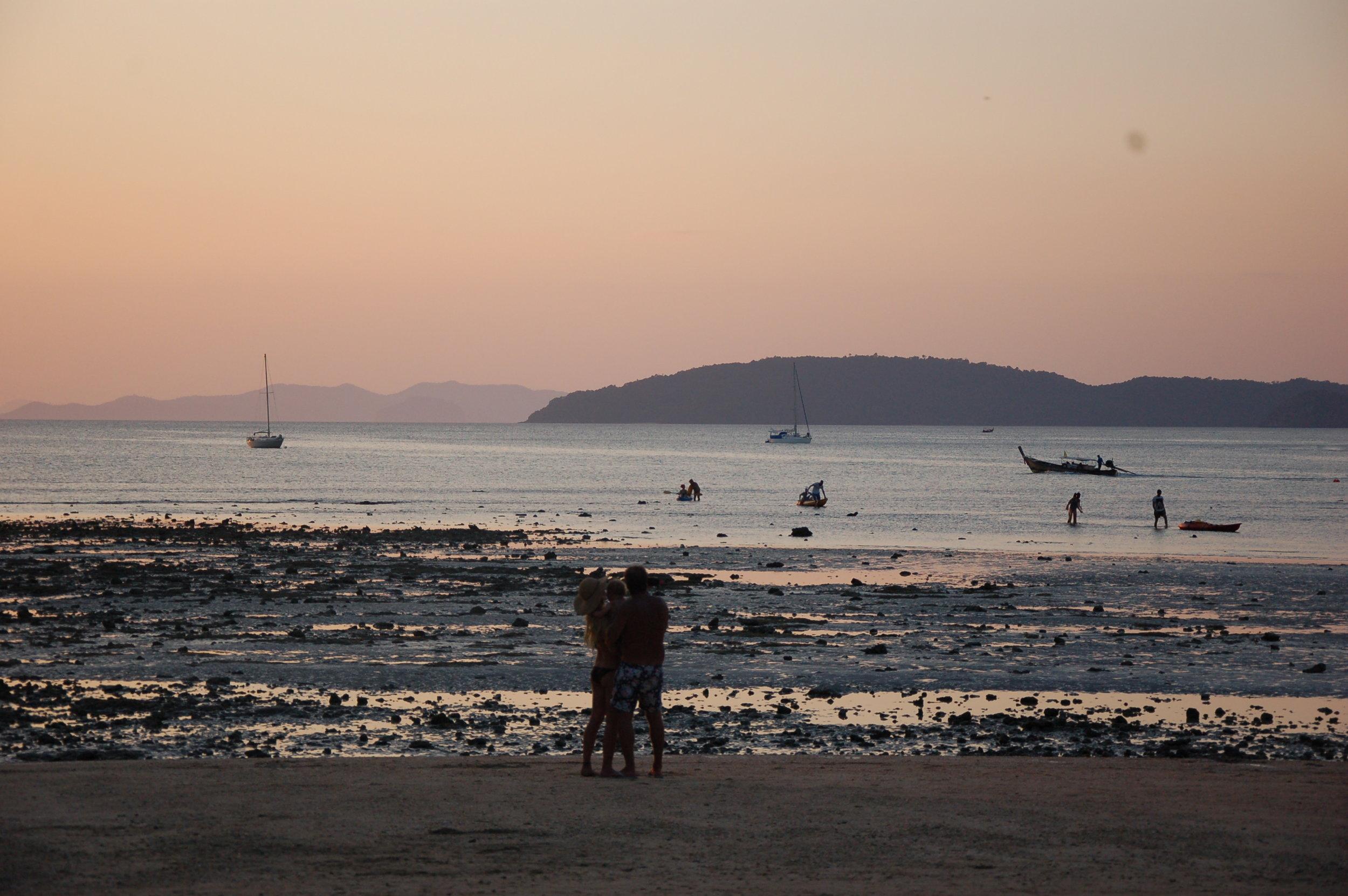 Sunset at Rayavadee in Krabi