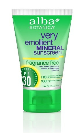 This  Alba Botanica Mineral Sunscreen  is great to slather on all over your body.