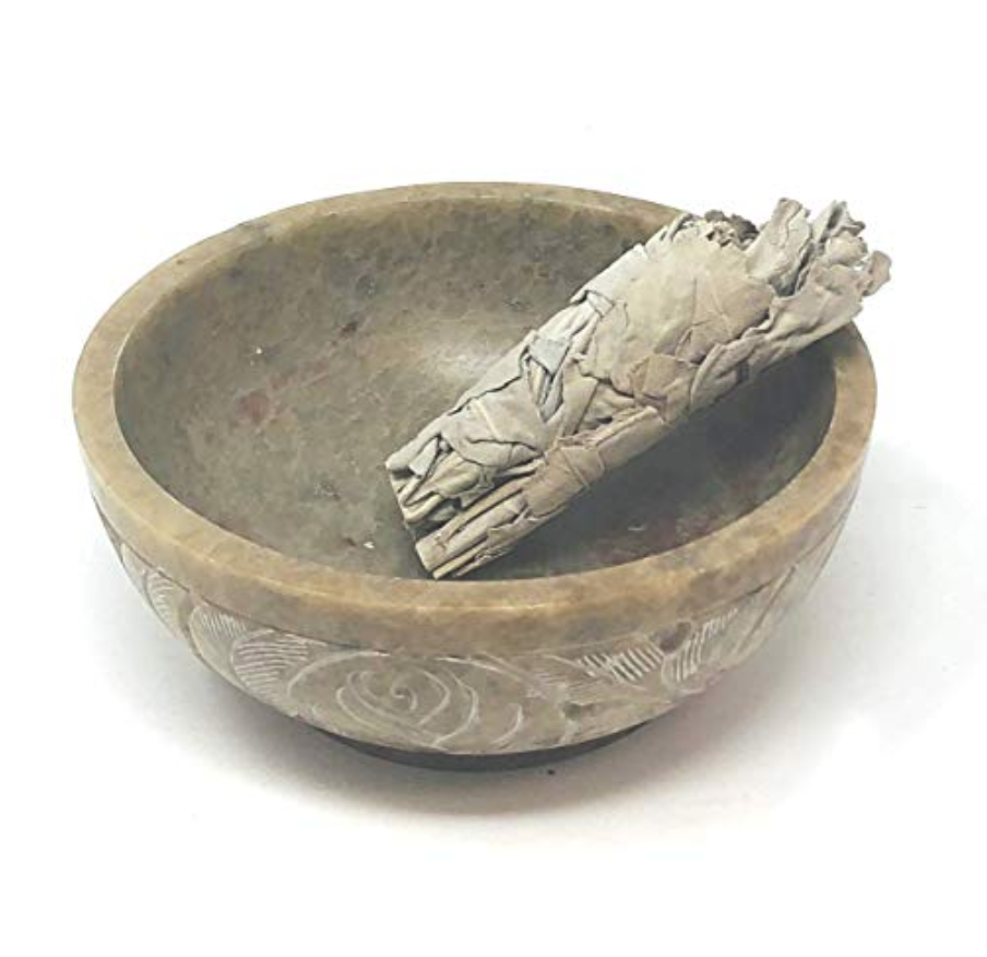 A Soapstone Bowl  to ash, stub out and hold your sage sticks