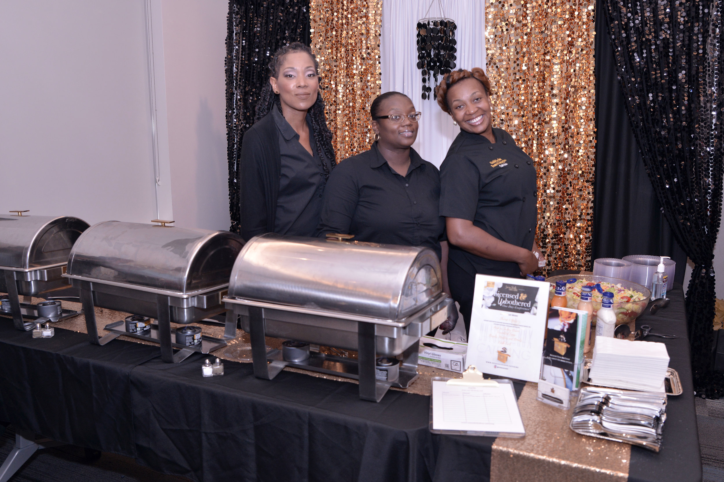 Tameka Jones, Owner of Outside The Box Catering and her staff