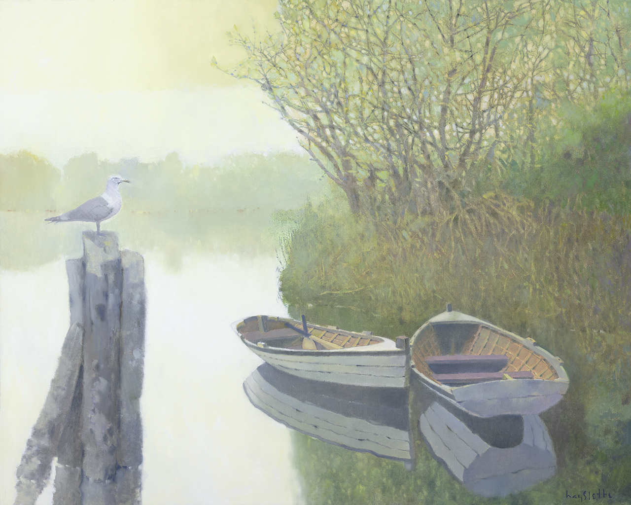 Hmoc 1698 Morning on the Bay 32x40