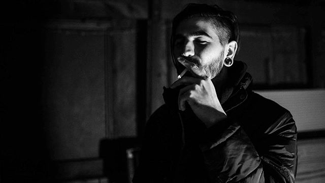 #cinematic #16x9 #bwphoto #preshow #hangs #mimegame #kansascity #onelight #candid #candidphotography #smoke #theupswing