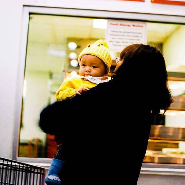 A #candid taken waiting in line for food. Shot with the #yashicamat124g on #kodakektar100 , processed in #lightroom  #kodak #color #candidphotography #candidchildhood #film #filmphotography #filmisnotdead #yashica #mediumformat #adobe #scans