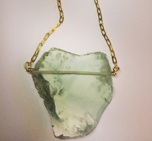 rare natural green quartz