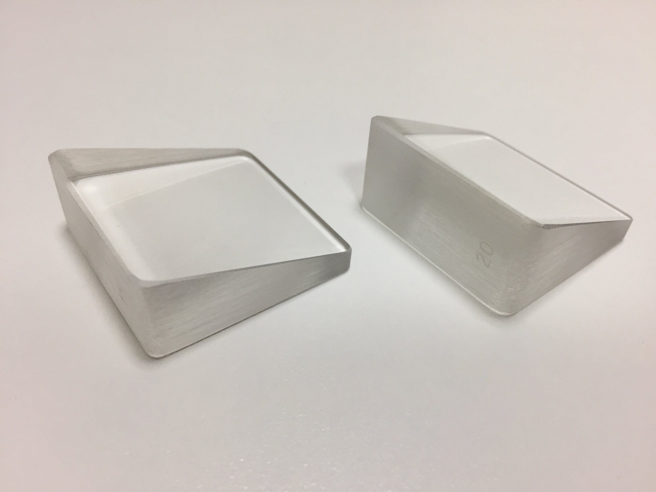 Prisms come in different sizes, allowing us to measure eye misalignment.