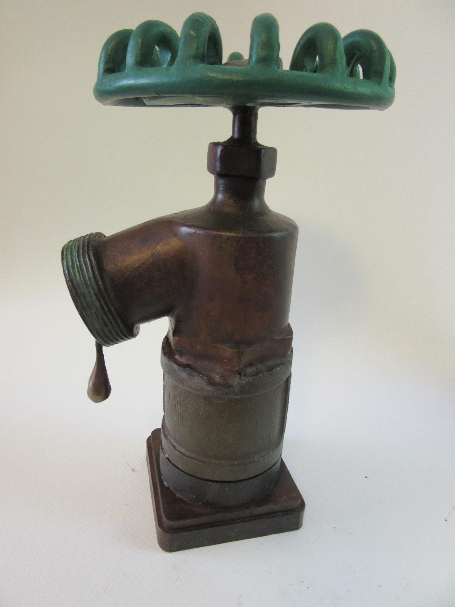 La Niña III, bronze, steel, patina