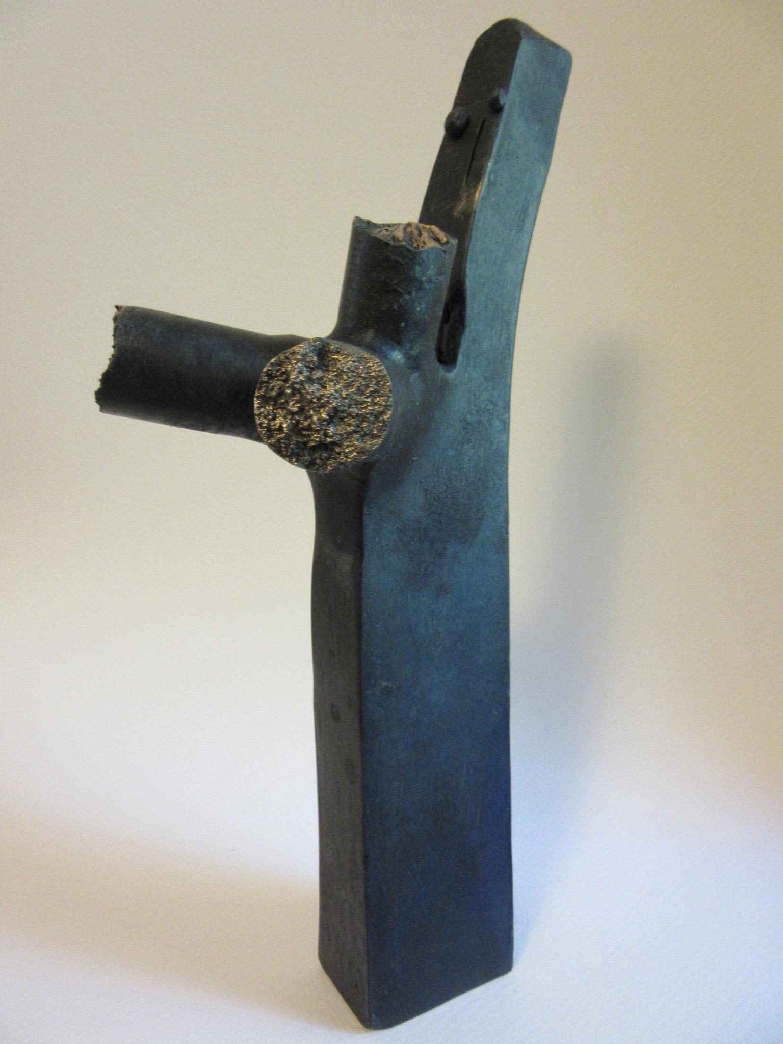 "Untitled , bronze 12.5"" x 4.5"" No longer extant"