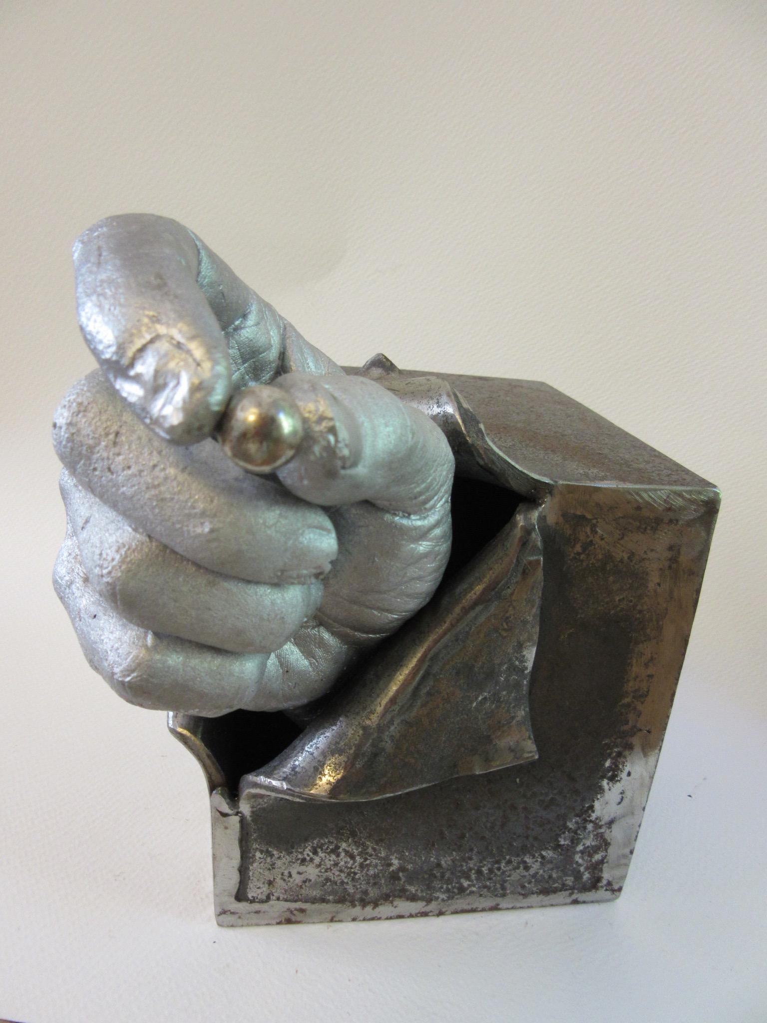 "Untitled , steel, aluminum 8"" x 8"", SJ ICA Auction"