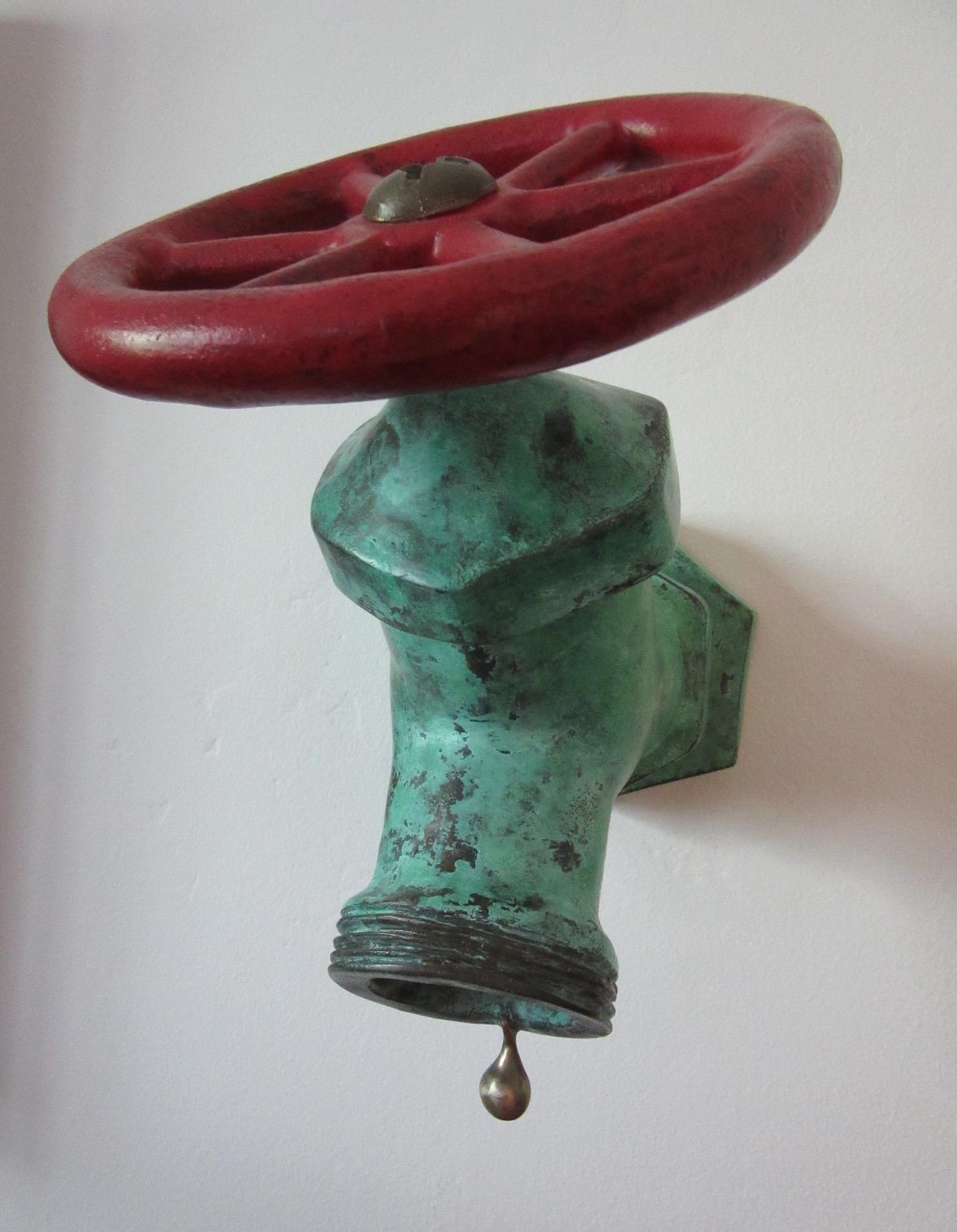 La Niña I, bronze, patina, paint