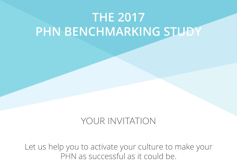 2017 PHN Benchmarking Study Invitation