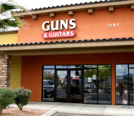 A shocking combination. (Image from  gunsandguitars.com )