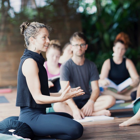 Join us at beautiful Gaia Abasan in Bali for our next 60hr training in Trauma-Informed & Community Yoga, with @jo.buick and @meilaiswanyoga. . Designed for yoga teachers, community and health professionals, we offer an experiential and immersive training exploring trauma-informed yoga, social justice and community-based practice. 25% of profits go directly to community yoga programs, and our retreat centre for the training is a local nonprofit providing various community projects. . Full details via link in bio 👆 . Swipe right for some beautiful pics of Gaia Abasan 🌿 Early bird ends May 21st! . . . #traumainformedyoga #communityyoga #accessibleyoga #yogateachertraining #bali #payitforward #nonprofit