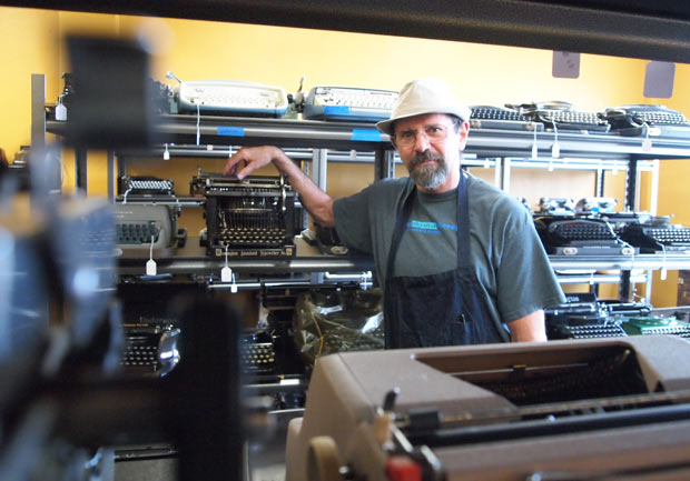 Don Feldman stands inside Typewriter Fever, a small shop in Bremerton. (Dyer Oxley)