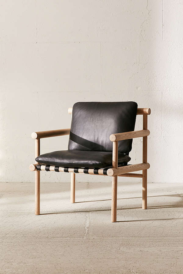 Urban Outfitters Leather Dowel Arm Chair.jpeg