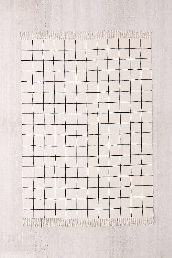 Urban Outfitters Wonky Grid Printed Rug.jpeg