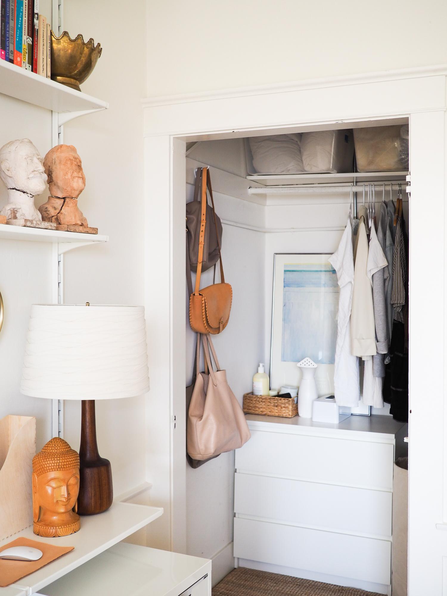 White dresser:  Ikea , via Craigslist. Small jute rug:  Ikea . White tissue box cover:  Amazon .