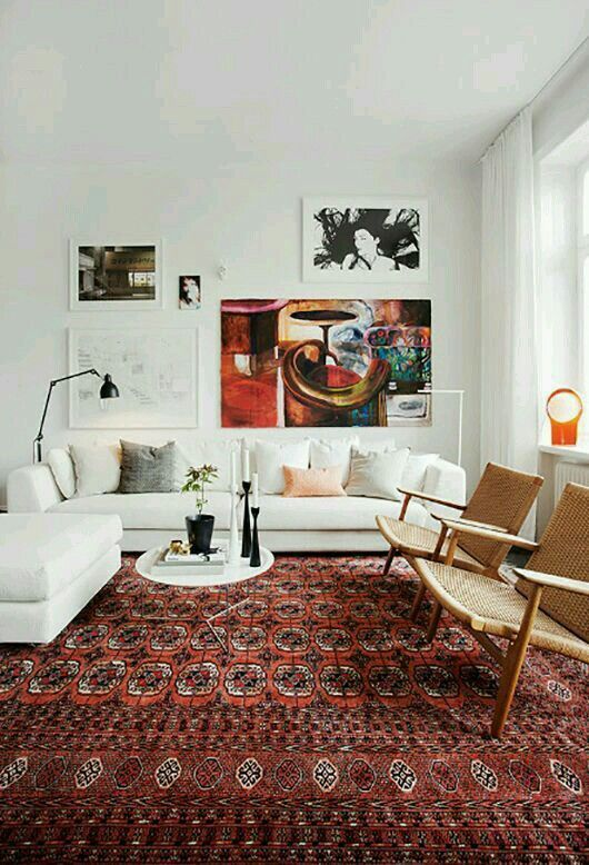 Oriental rug hans wegner chairs.jpg