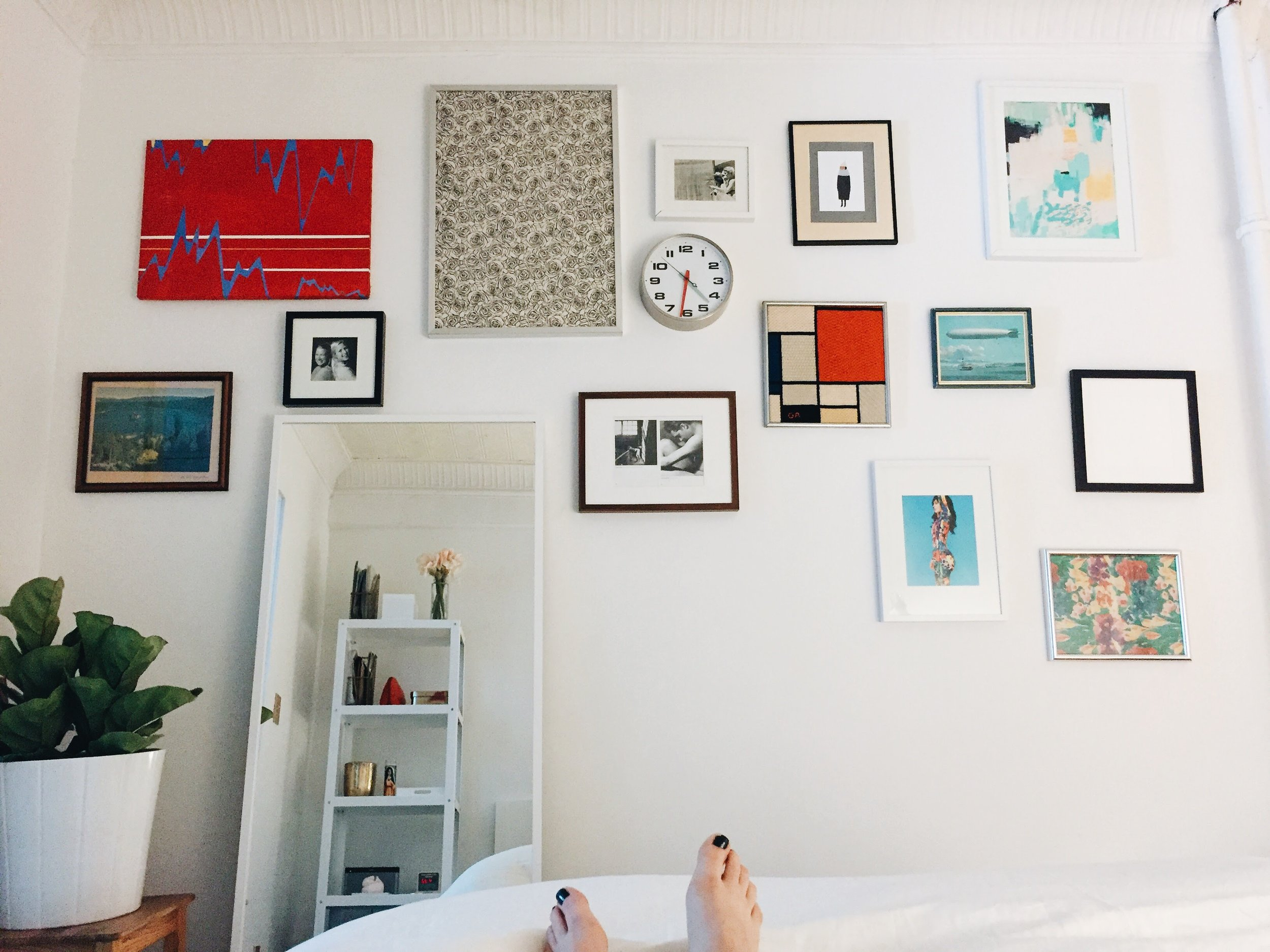 Day, like, 2 in Brooklyn. I didn't have much furniture set up but I *did* have all my art up on the wall.