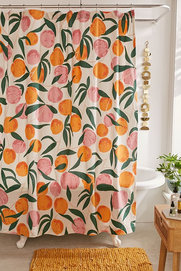 28. Peaches Shower Curtain ($39)