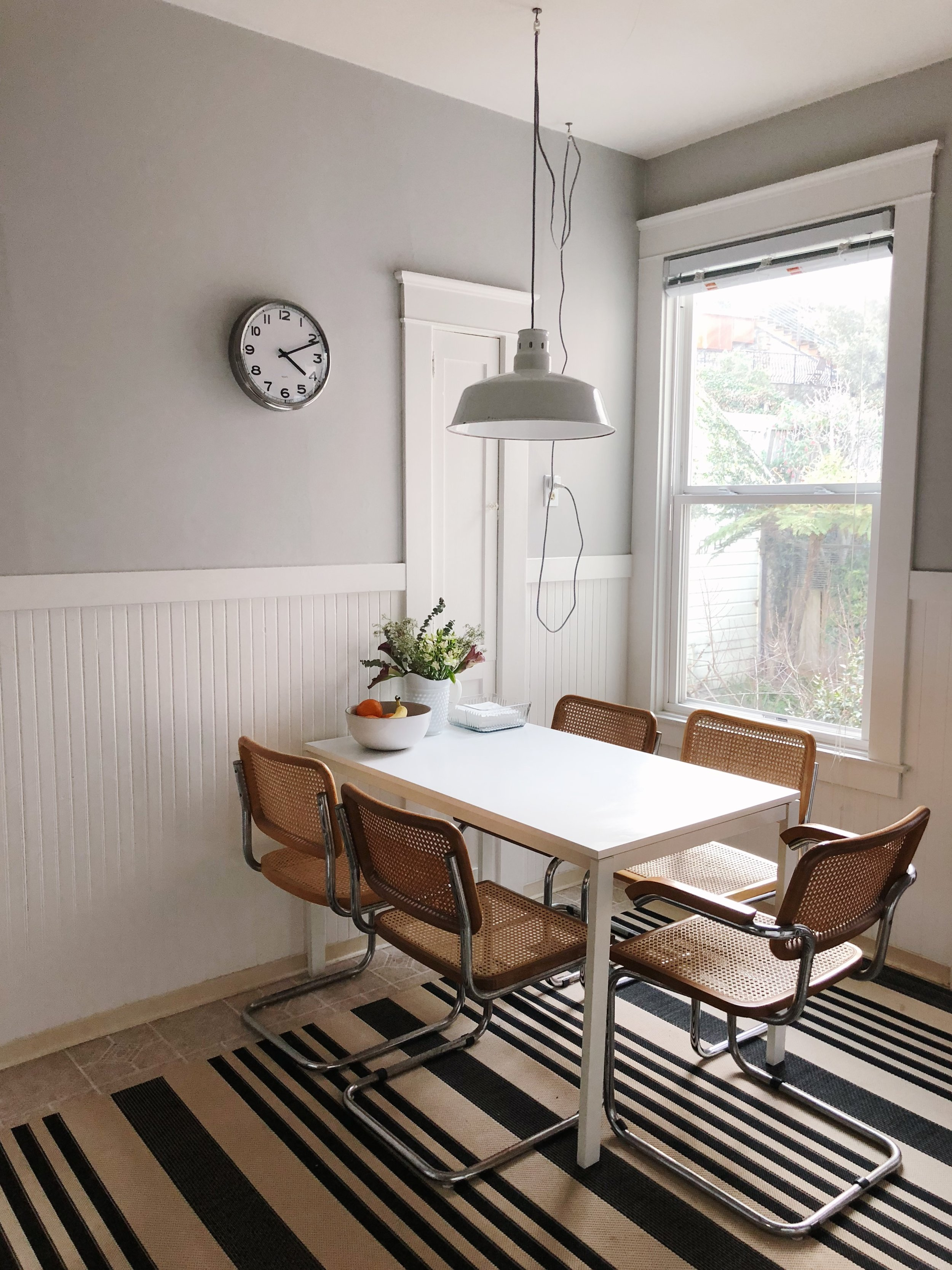 Clock:  Ikea . Bowl: Heath Ceramics.