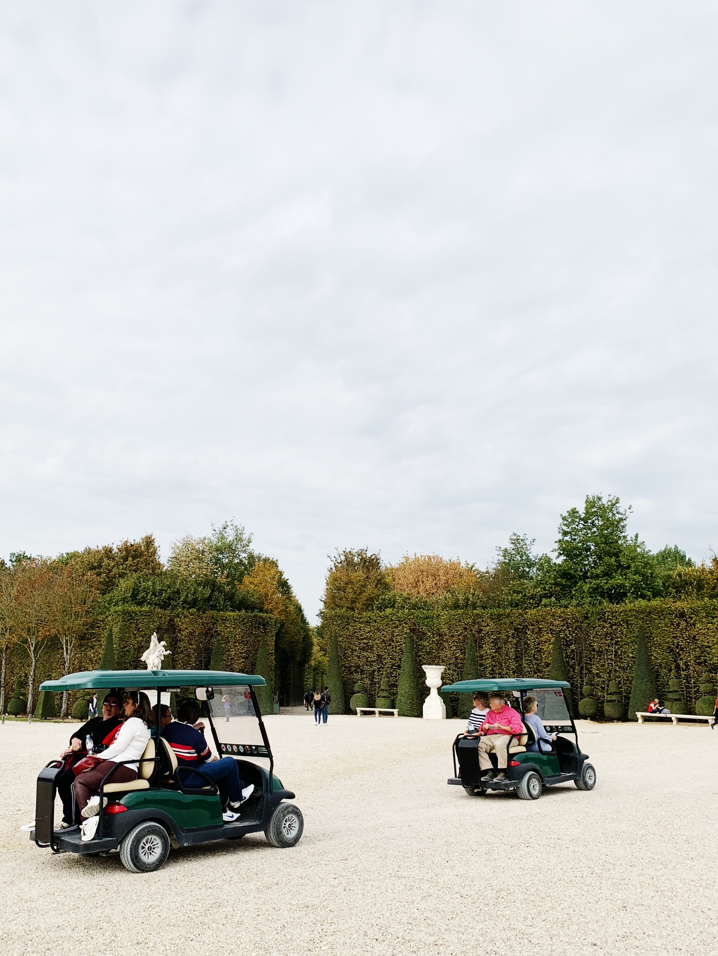You can rent golf carts to drive around the grounds, they're so expansive.