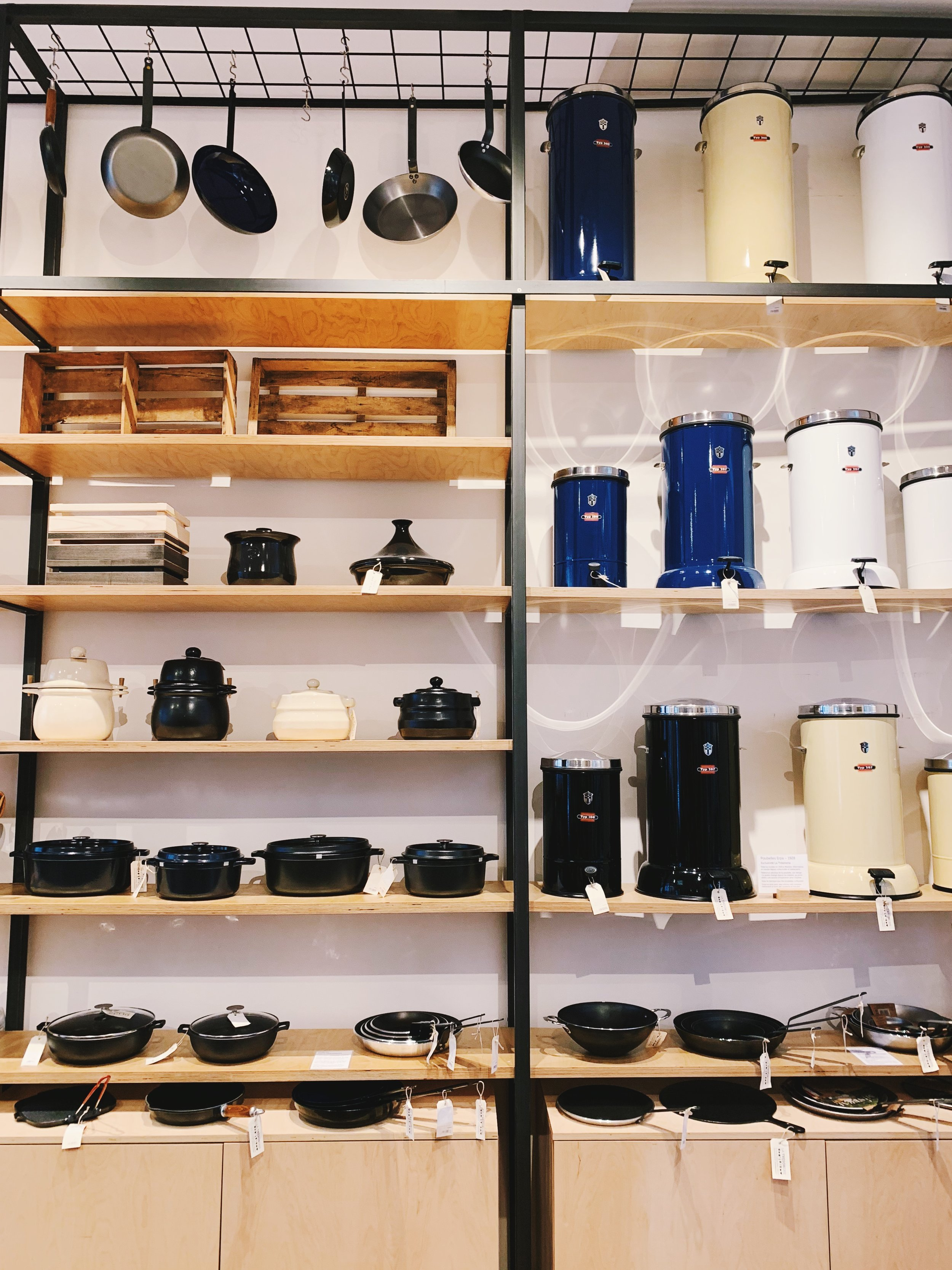 All the beautiful kitchenwares at La Trésorerie.