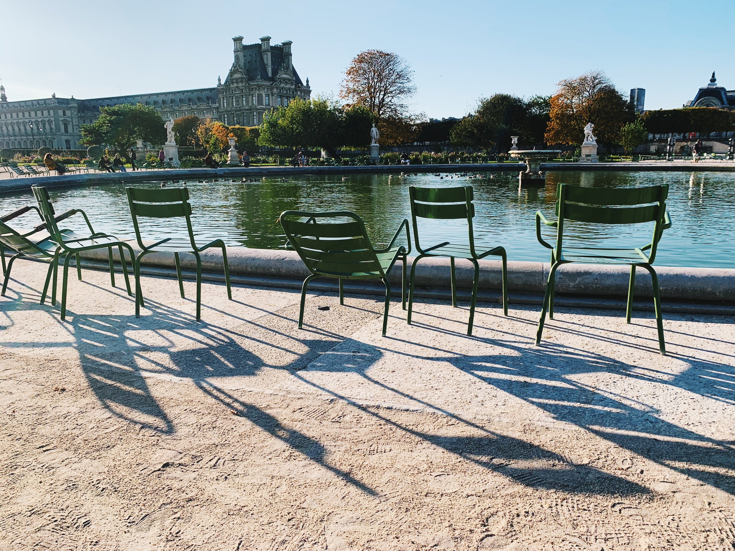 Beautiful light in the Tuileries Garden.