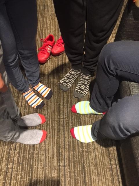 gray dress socks