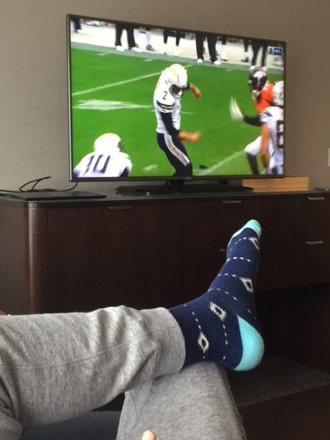 blue dress socks