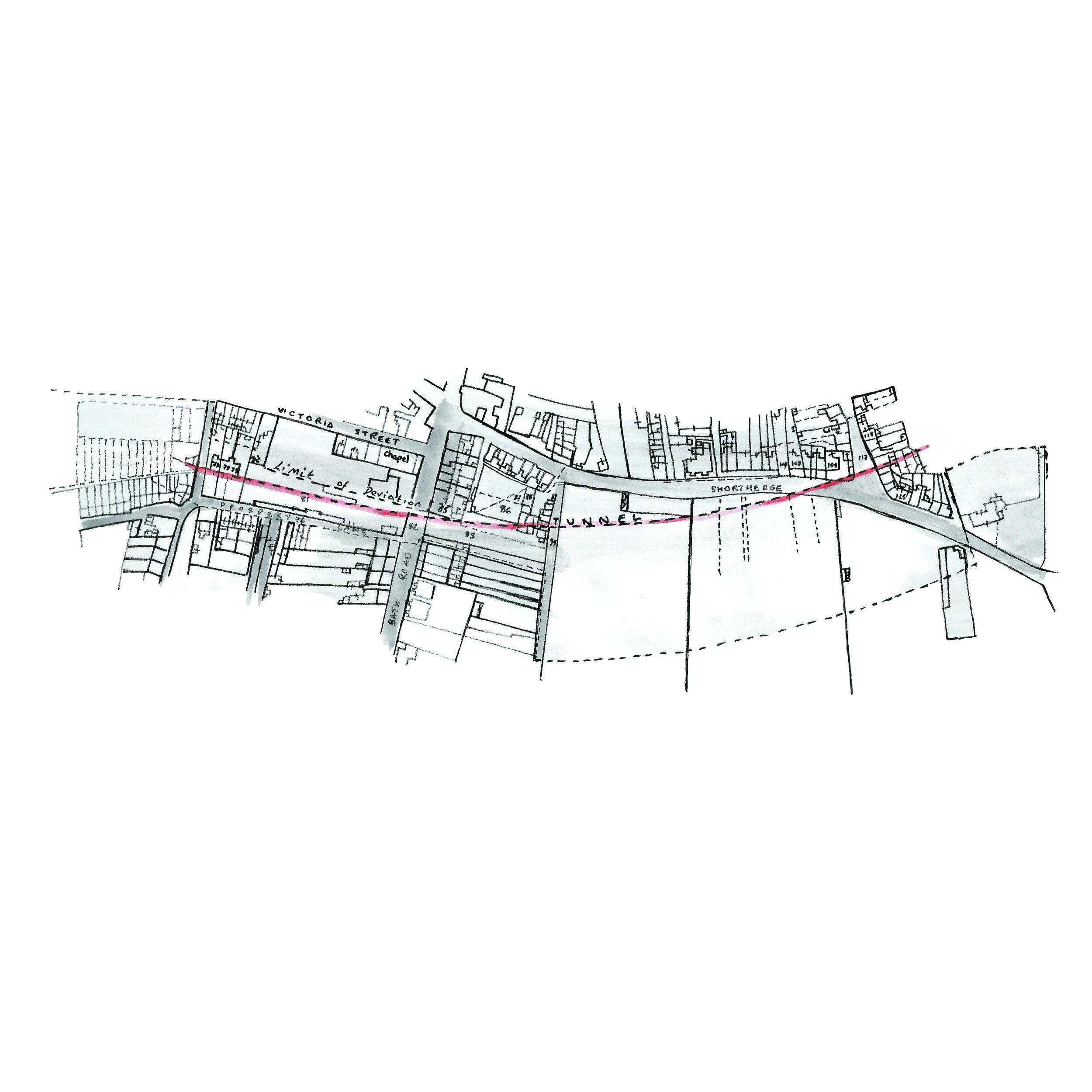 Map of Swindon Tunnels