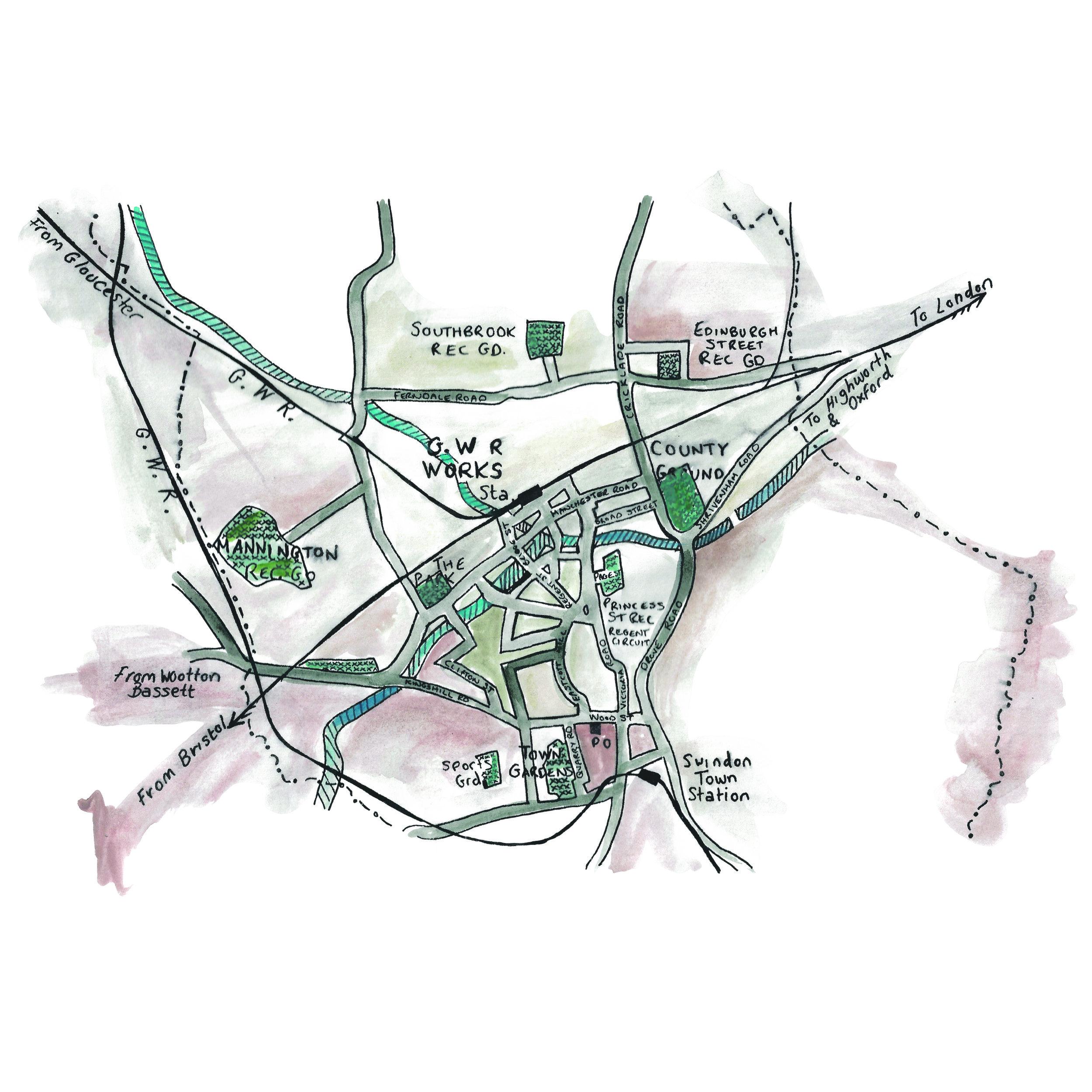 Map of Swindon