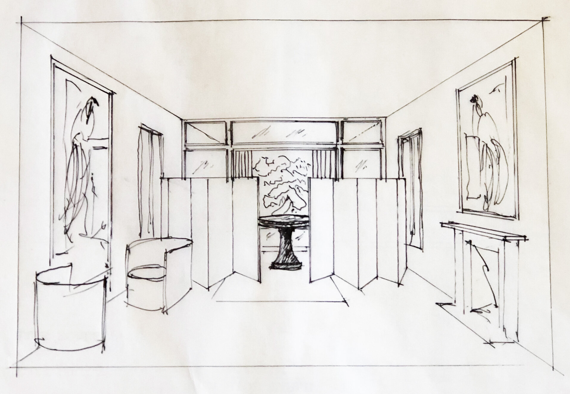 Original room sketch courtesy of Felix Pfeifle from Office of Cultural Design.