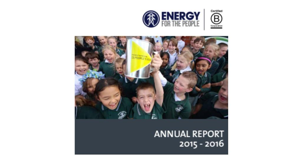 Would you like the latest Annual Report from Energy for the People?