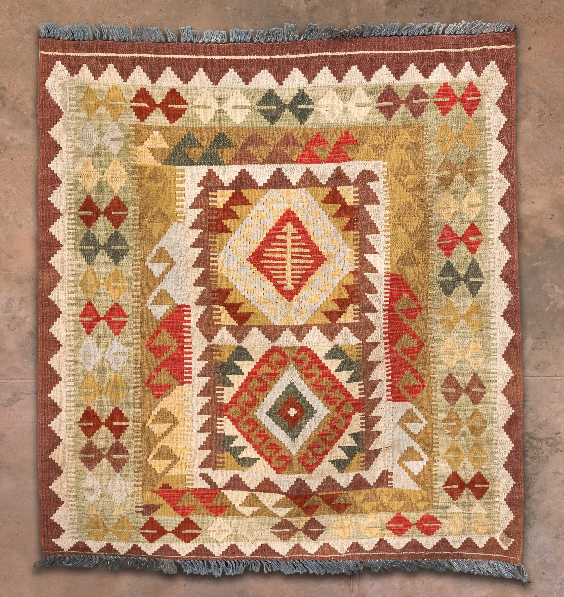 Old Anatolian Kilim 49x45inches 38k.jpg