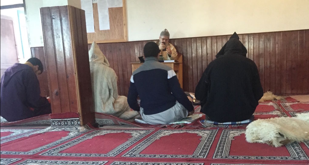 Mohamed Acharki in class in Morocco.