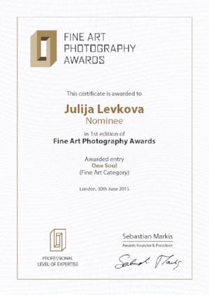"July 2015 - Nominee Fine Art photography awards (FAPA) - ""One Soul"""