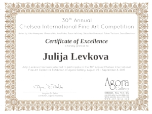 August 2015 - The Chelsea International Fine Art Competition Exhibition