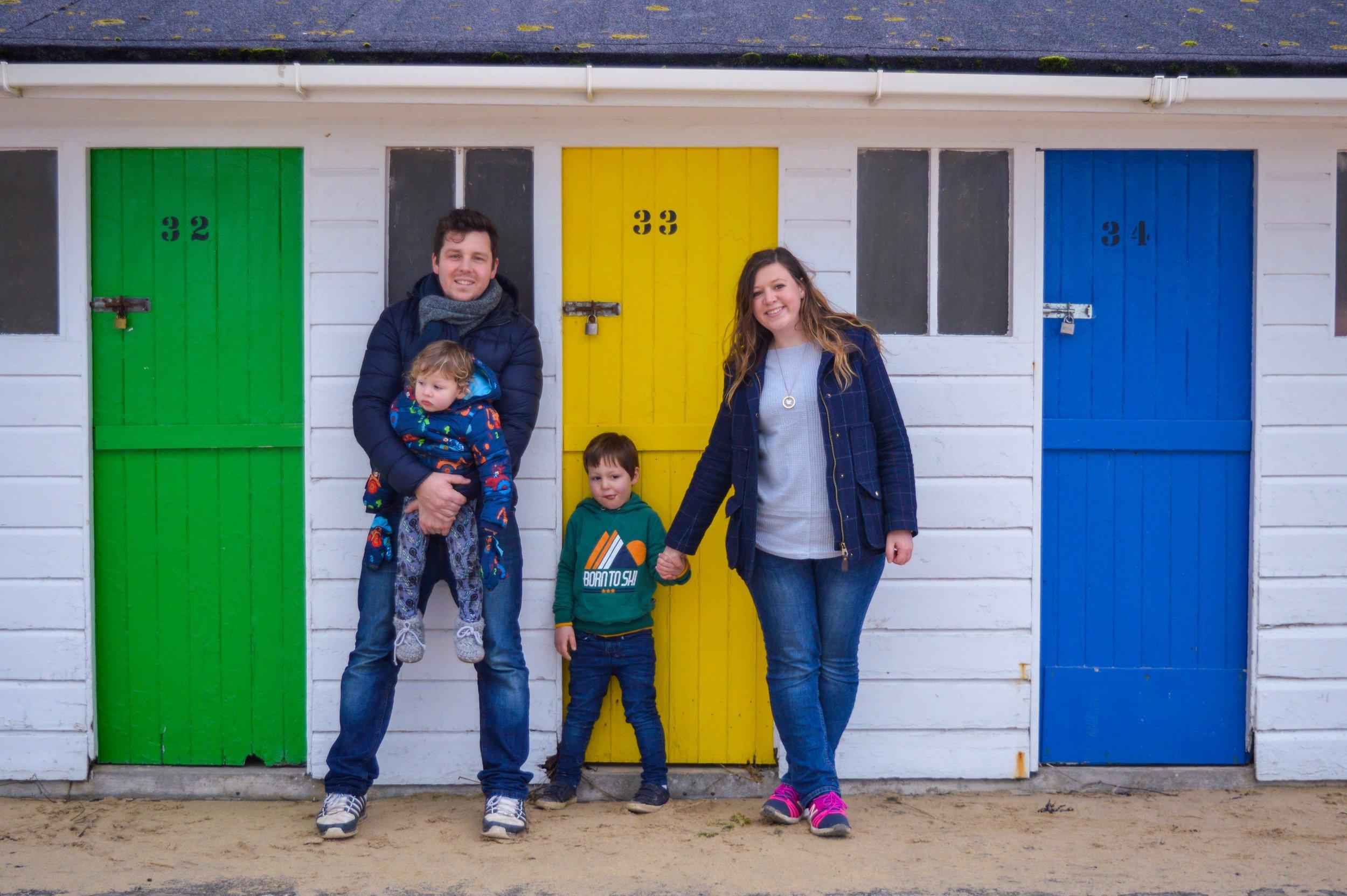 A rare family photo taken at Porthminster Beach