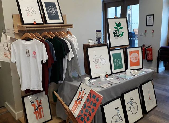 Our first event in a while this weekend at @hebdenbridgeprintfair this evening till 9pm and tomorrow from 10am till 5pm. If you're nearby come check us out #PrintingPositiveChange #FromSleepingBagToEmployment #socialenterprise #hebdenbridge #hebdenbridgeprintfair