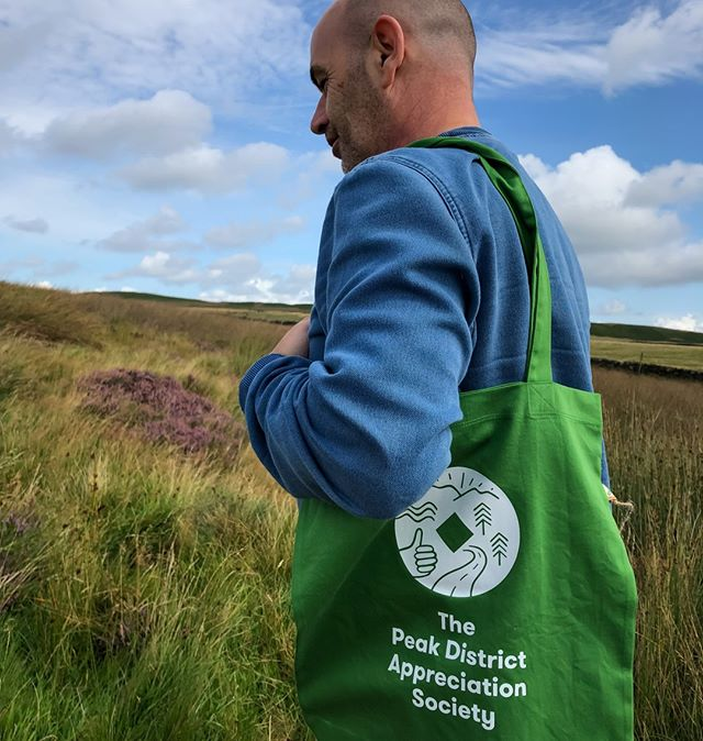 🚨New Product 🚨  The wait is over! Our brand new Peak District Appreciation Society tote bags are here.  We're launching today the light green tote bags. Show some love for the Peak District and get your hands on this brand new product available from our website now 🌿  #PeakDistrict #TheOutdoorCity #SheffieldIsSuper #PrintingPositiveChange #EthicalFashion