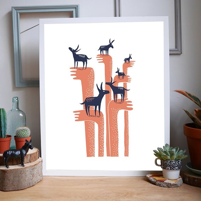 This fabulous day-dreaming donkey design was created by James Green.  Hand screen printed in Sheffield using water-based eco inks onto recycled card.  Get this print and many more from our website www.printedbyus.org  #screenprint #printingpositivechange #sheffield #artwork #artist #printing #ethical #homelessness