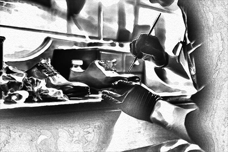 Creating a pair of bespoke shoes is about taking time to sweat each detail.