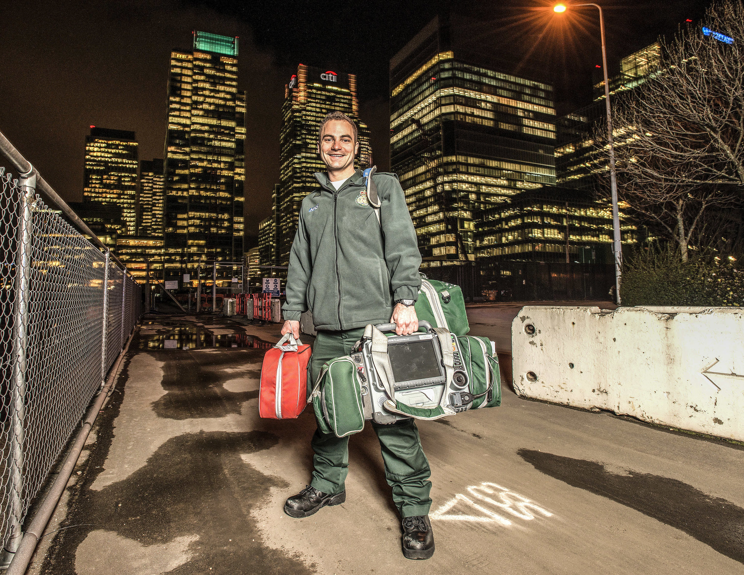 Business Portraits - Paramedic Andrew Winkler