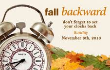 Fall Time Change is November 6, 2016. Read for Tips and Tricks for the Time Transistion