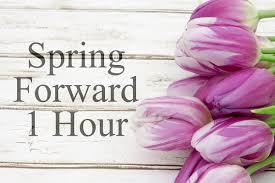 Spring Forward on 3/10/19