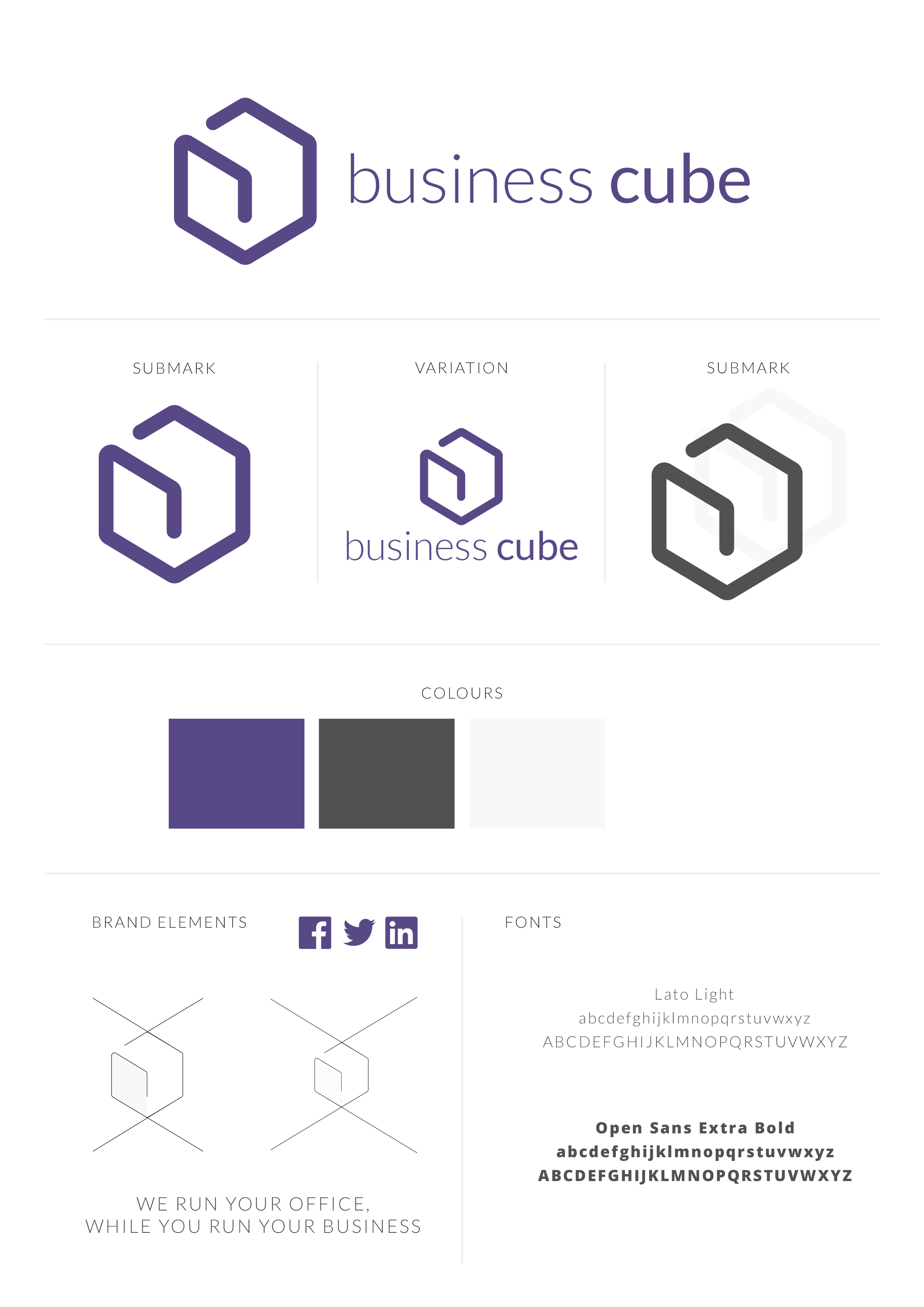Brand board for Business Cube