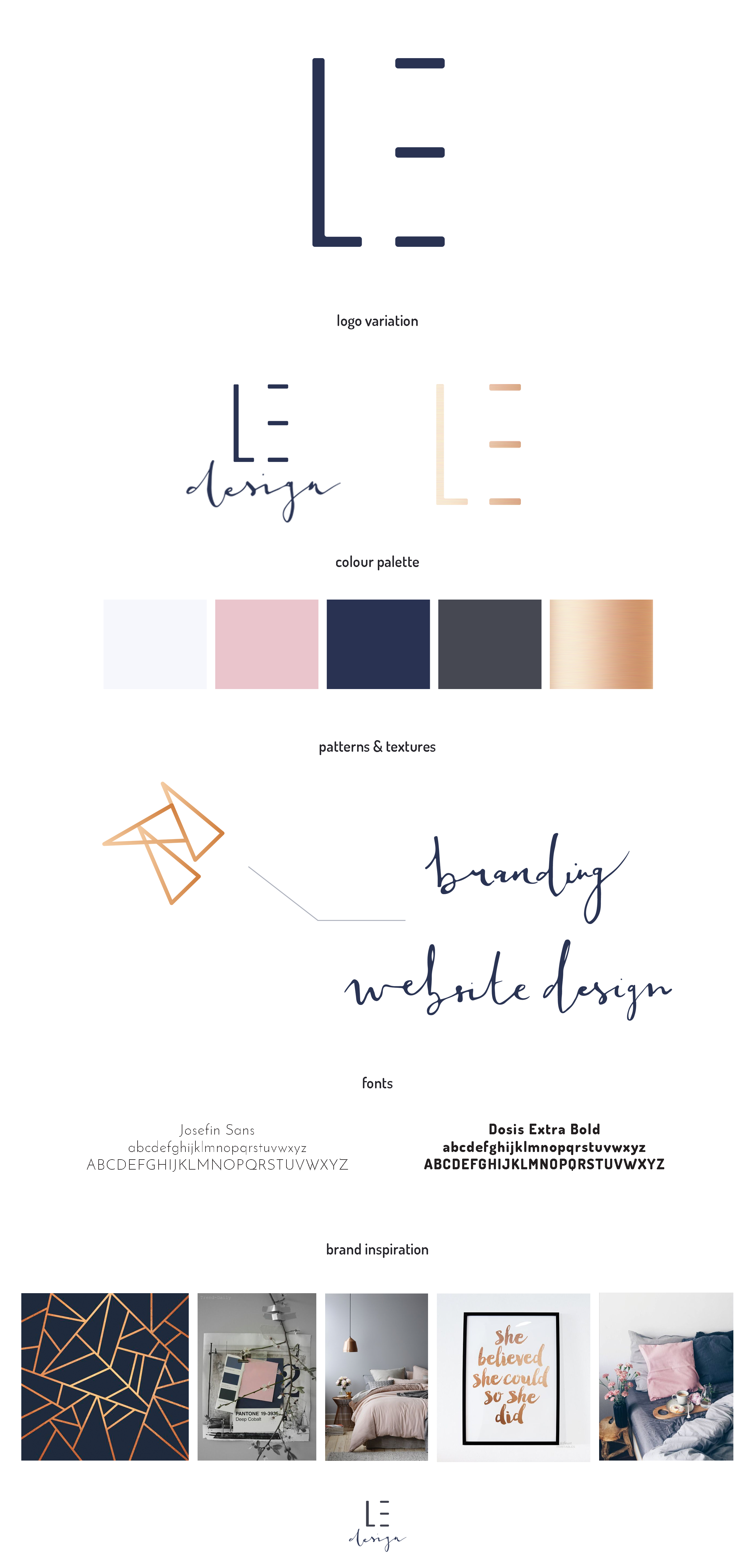 Brand board for Lucy Elliott Design